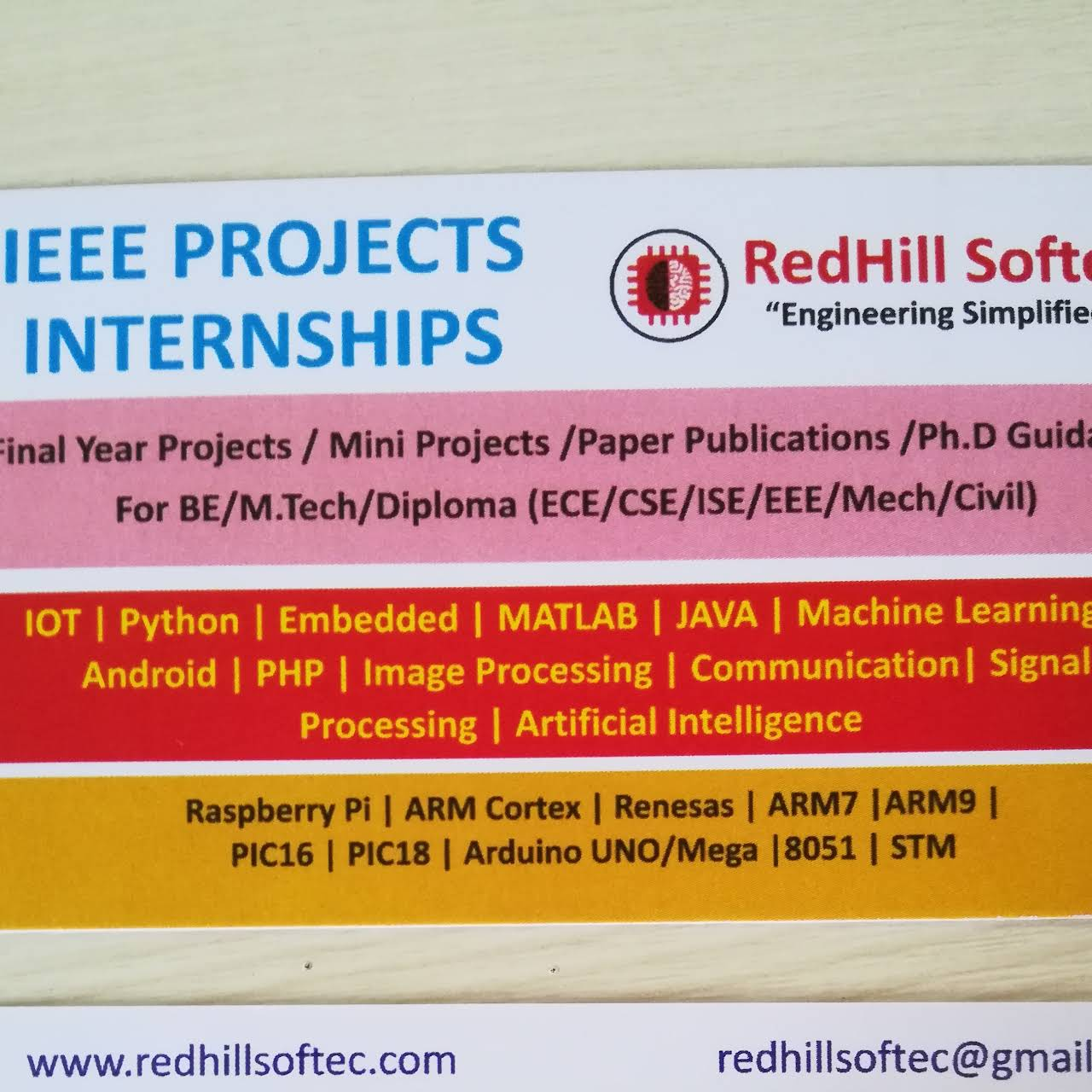 RedHill Softec - Institute Of Technology in Bengaluru