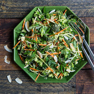 Broccoli Slaw with Miso-Ginger Dressing.
