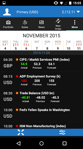 OANDA fxTrade for Android screenshot 5