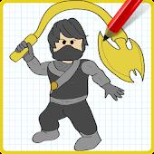 App How to Draw Cole Black NinjaGo APK for Windows Phone