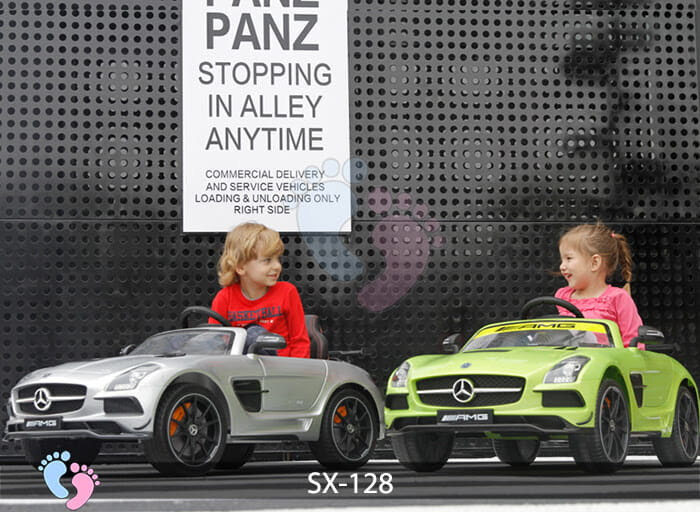 Xe hơi điện trẻ em SX-128 ghế da 6
