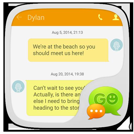 GO SMS GS6 Theme