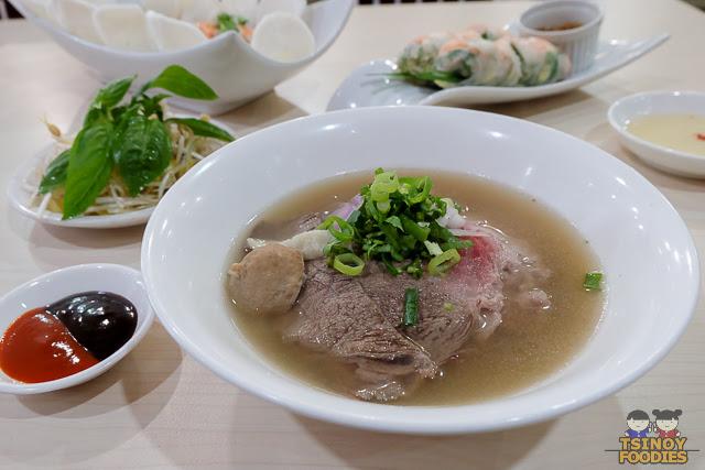 combination beef noodle soup