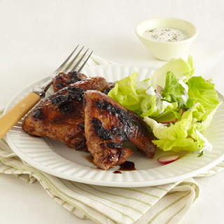 Peach & Balsamic Grilled Chicken Wings.