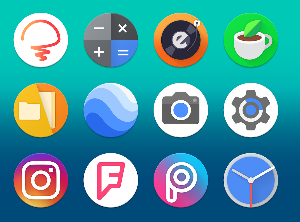 Pireo - Pixel/Pie Icon Pack – (Android Aplikace) — AppAgg