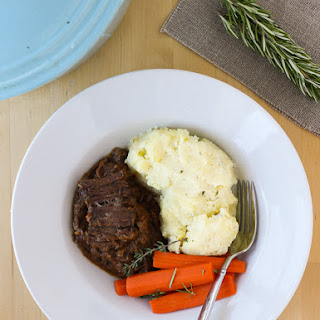 Slow-Cooker Pot Roast with Porcini Mushroom Gravy {Gluten-Free} Recipe