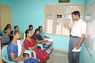 Photo: Our trainer conducting a life skills training session