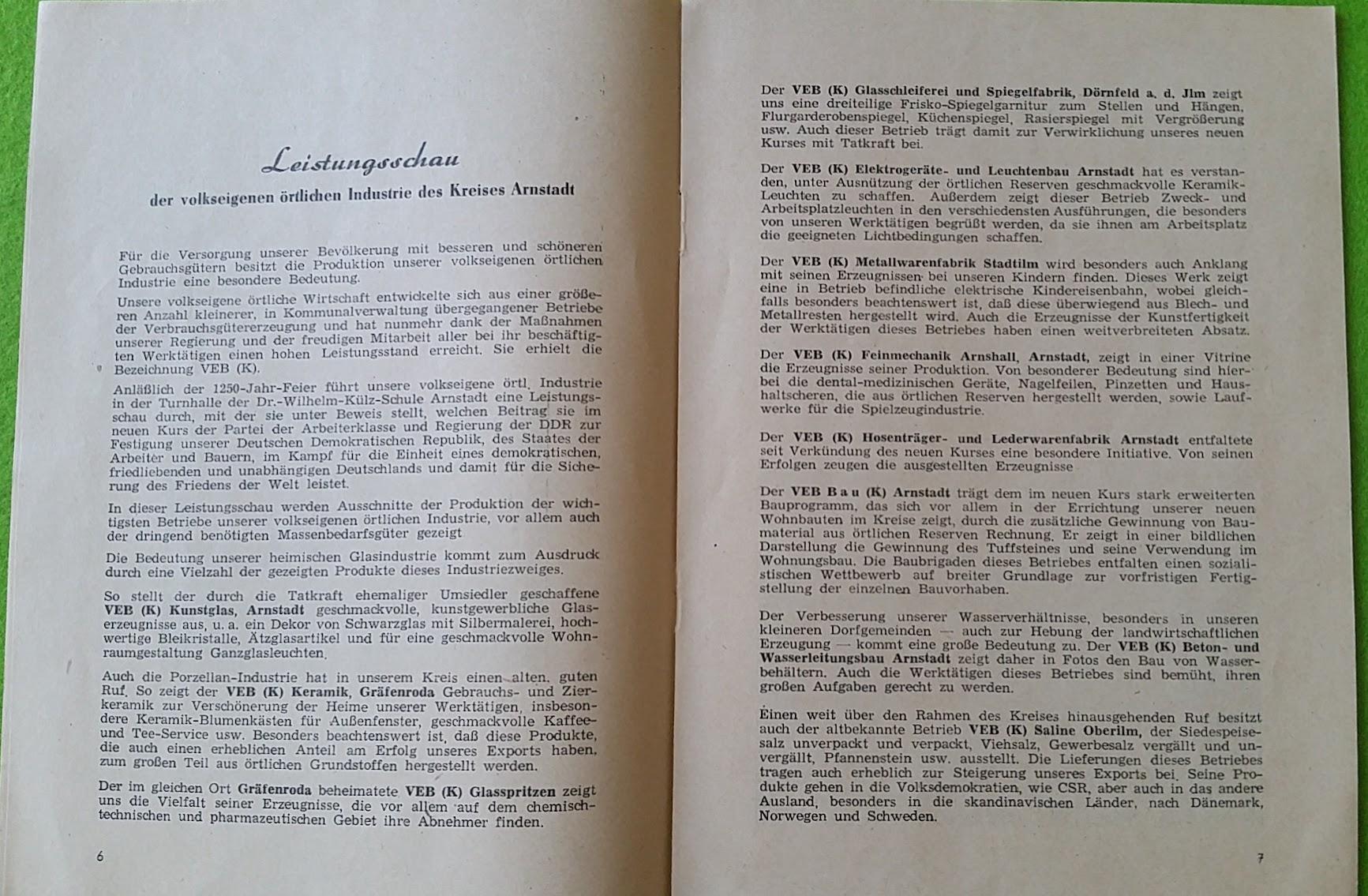 Leistungsschauen des Kreises Arnstadt - 1954