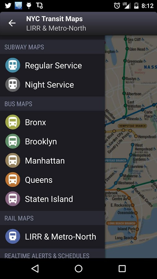 New york subway map bus lirr metro north mta android apps new york subway map bus lirr metro north mta screenshot sciox Images