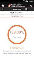 Screenshot of ICICI Bank - iWealth