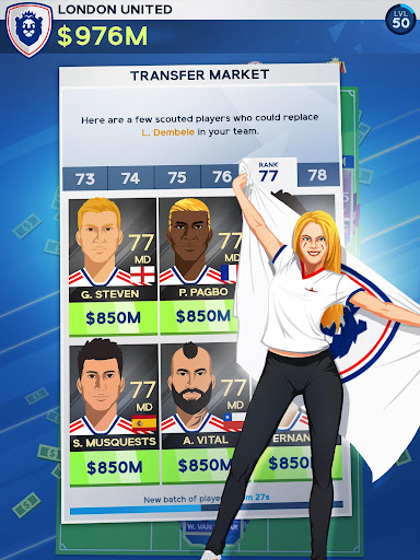 Idle Eleven - Be a millionaire soccer tycoon apkpoly screenshots 16