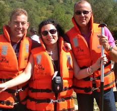 Photo: Miguel Angel Alcaraz (España),Corina Scarlat (Rumania) y Miguel Angel González Suárez (FIjet España)