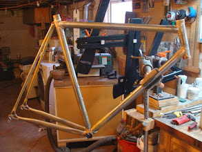 Photo: I've skipped a couple steps, here's the frame fully brazed up and ready for finishing.