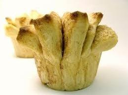 """For """"fan tans"""" in muffin tin: Divide dough into 3 equal parts. Roll out each..."""