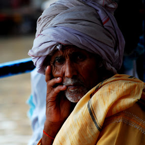 Thinking....... by Swarup Roy Chowdhury - People Street & Candids ( candid, travel, place, man, portrait )
