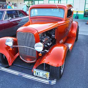 Red Hot  by Howard Mattix - Transportation Automobiles ( custom built, red, car show, art object, classic,  )