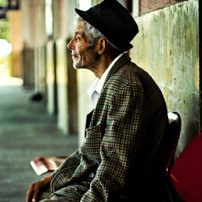 The Old Man by Eduard Moise - People Portraits of Men ( male, old man, expressive, elderly, portrait )
