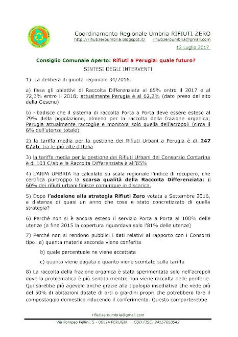 #ConsiglioGrande sui #Rifiuti a #Perugia - 12/07/2017 - le foto e video