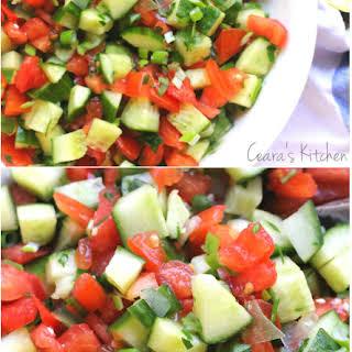 Mediterranean Cucumber Tomato Salad.