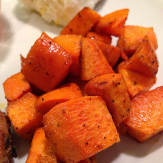Coconut Roasted Sweet Potatoes.