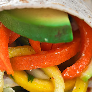 Crunchy Veggie Wrap with Hummus and Avocado.