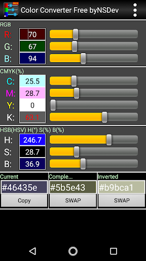 Color Converter Free byNSDev 1.0.2 Windows u7528 4