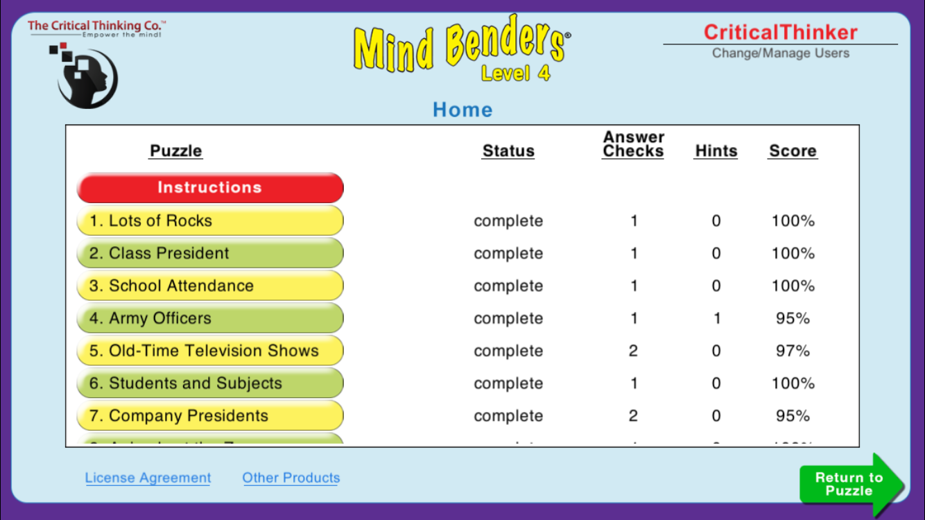 Mind Benders® Level 4- screenshot