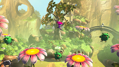 Photo: Giana can bounce or dash from enemy to enemy.