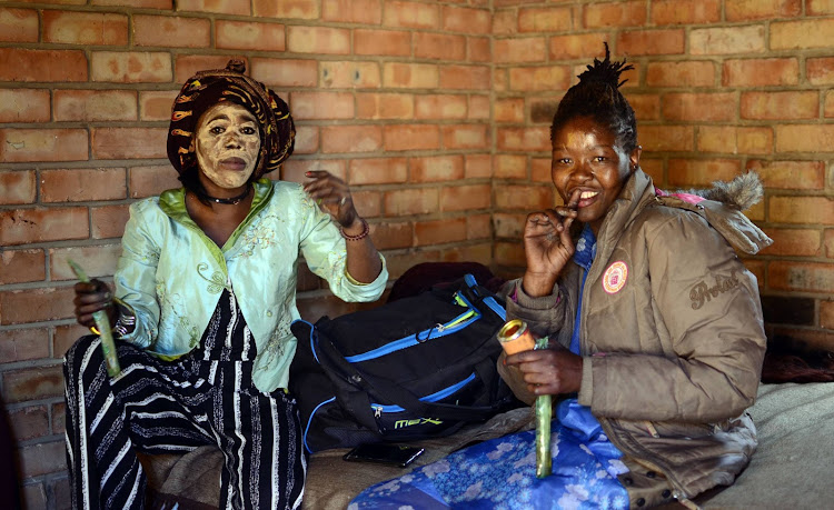 Sex workers Lucritian Taki and Happiness Saole are part of a group of girls and young women who were freed from the harsh control of foreign national pimps at Pinaarsdorp in Klerksdorp.
