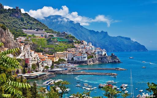 The storybook port city of Positano, Italy.