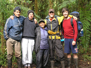 Photo: The field crew, (from left to right) Richard, Darcy, Moyra, Oran, Roger