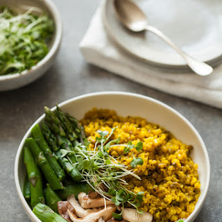 Mung Bean & Quinoa Bowls with Spicy Ginger Turmeric Broth Recipe