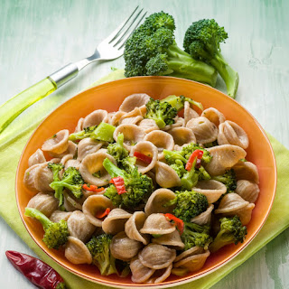 Spicy Orecchiette with Broccoli and Beans.