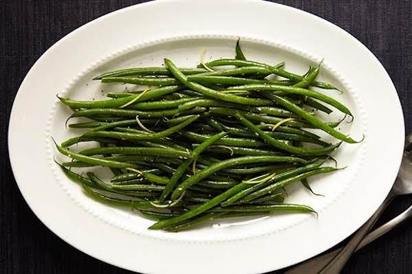 Green Beans With Za'atar And Lemon Recipe