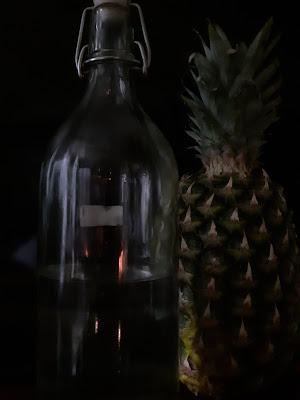 Bottiglia e ananas di ORTENSIA_EFFE