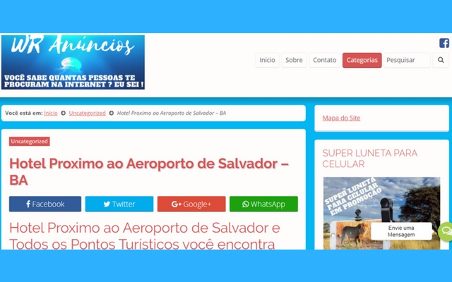 WR Anúncios Hotéis em Salvador