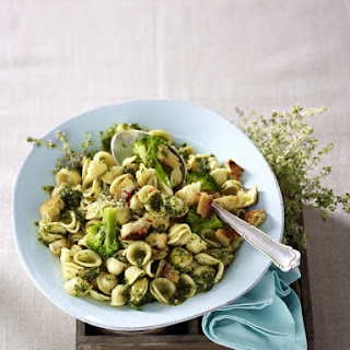 Orecchiette with Thyme Pesto and Chili Breadcrumbs Recipe