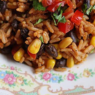 Spanish Rice with Black Beans & Corn.