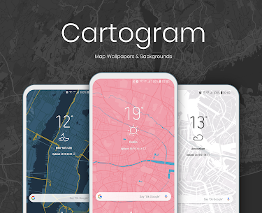 Cartogram – Live Map Wallpapers & Backgrounds (MOD, Paid) v4.5.4 1