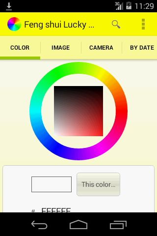 Feng shui lucky color picker android apps on google play - Lucky car color feng shui ...