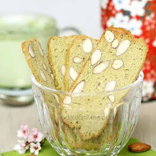 Green Tea Almond Biscotti.