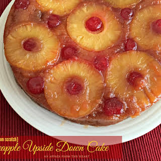 {from scratch} Pineapple Upside Down Cake.