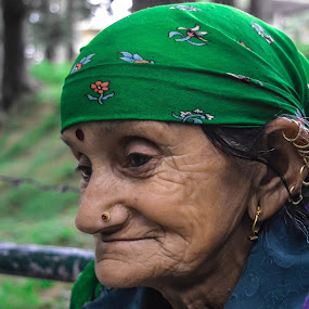 Grandmother of India by Rushi Chitre - People Portraits of Women