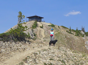 Photo: Mardi along the final approach to the lookout - almost there!