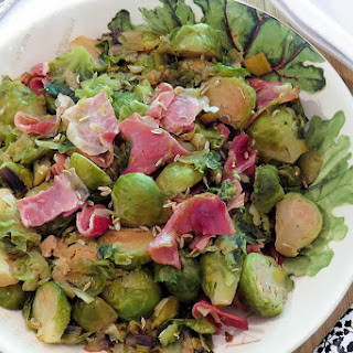 Brussels Sprouts with Melted Leeks and Prosciutto Recipe