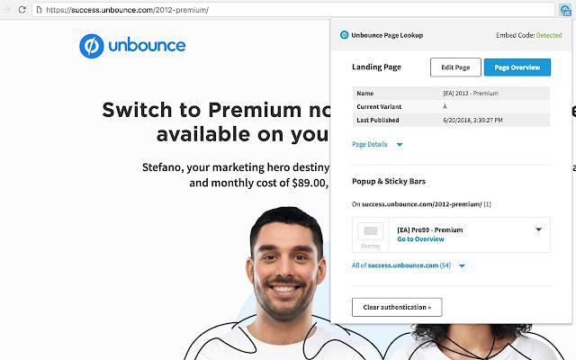 Chrome Extension - Unbounce
