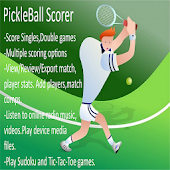 PickleBall Match Scorer plus music,puzzle games