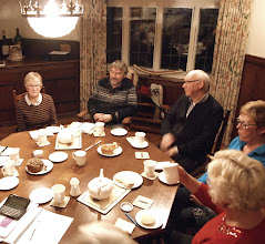 Photo: Lots of tea and lots of cakes at a Festival planning meeting at the Homestead, December 2016
