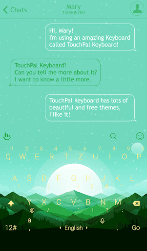 Green Vitality Keyboard Theme