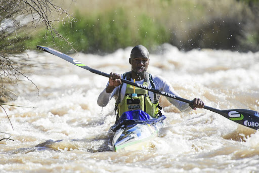 Final phase: Sbonelo Khwela rises early and trains twice a day in preparation for the Dusi Canoe Marathon. Picture: ANTHONY GROTE/GAMEPLAN MEDIA